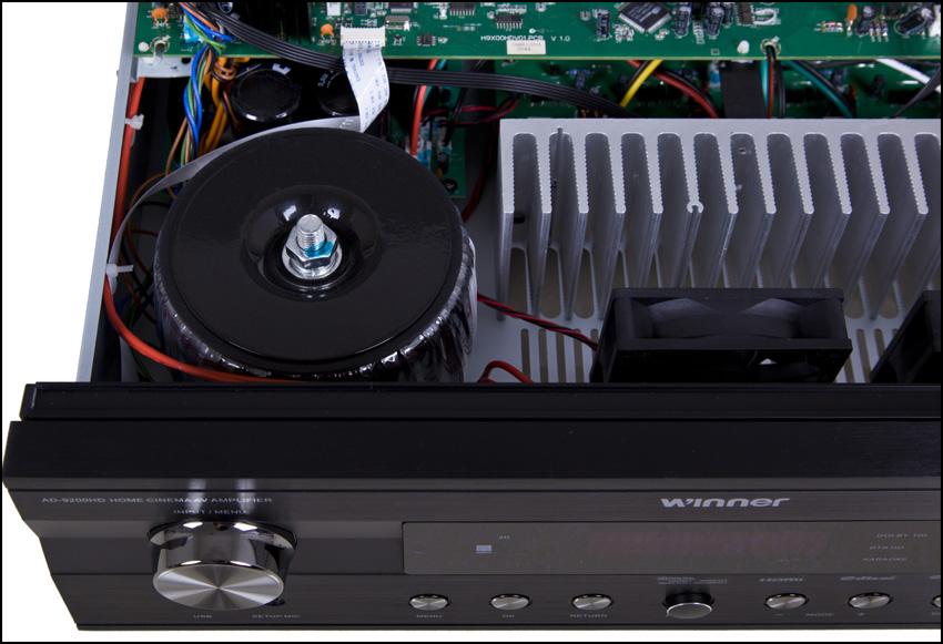 此次ad-9200hd 5声道功放一共使用了10只安森美的njw0281g/njw0203g大